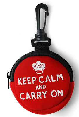 Keep Calm and Carry On pacifier case