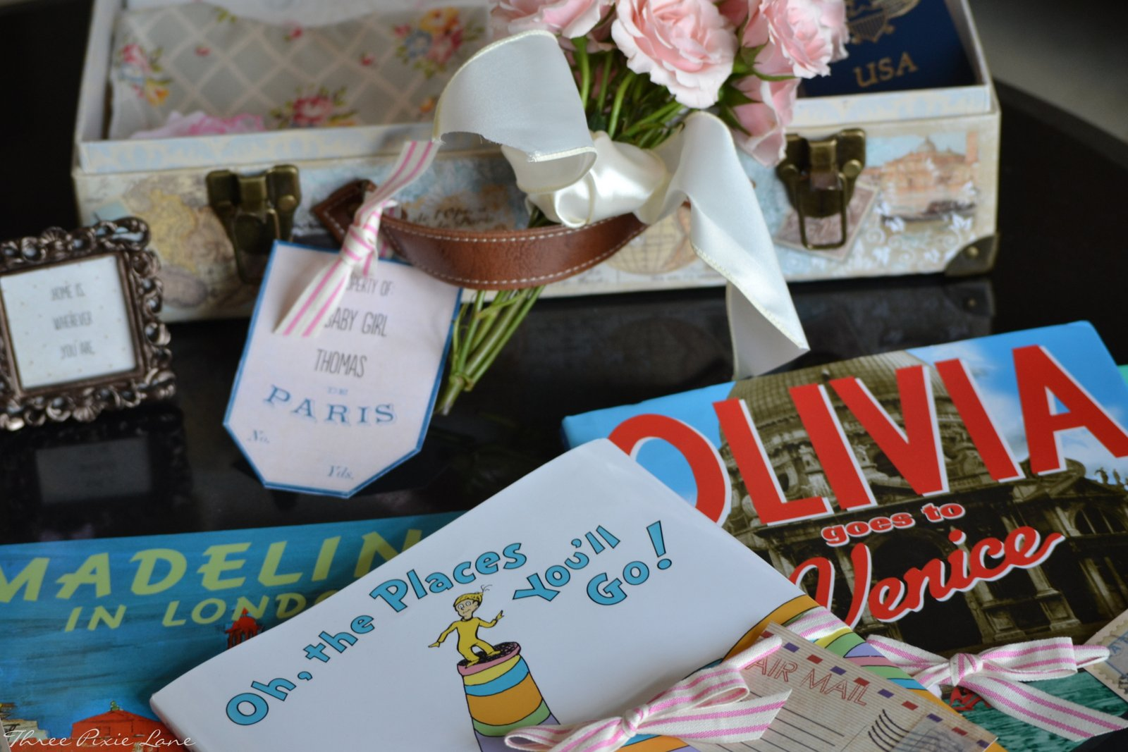 three pixie lane a travel themed baby shower oh baby the places