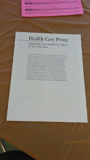 More Information regarding NYS Health Care Proxy.