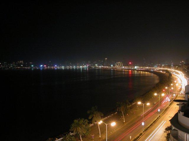 marine drive night view