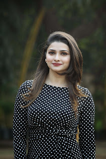 Prachi Desai looks absolutely cute and stunning in black polka dott dress