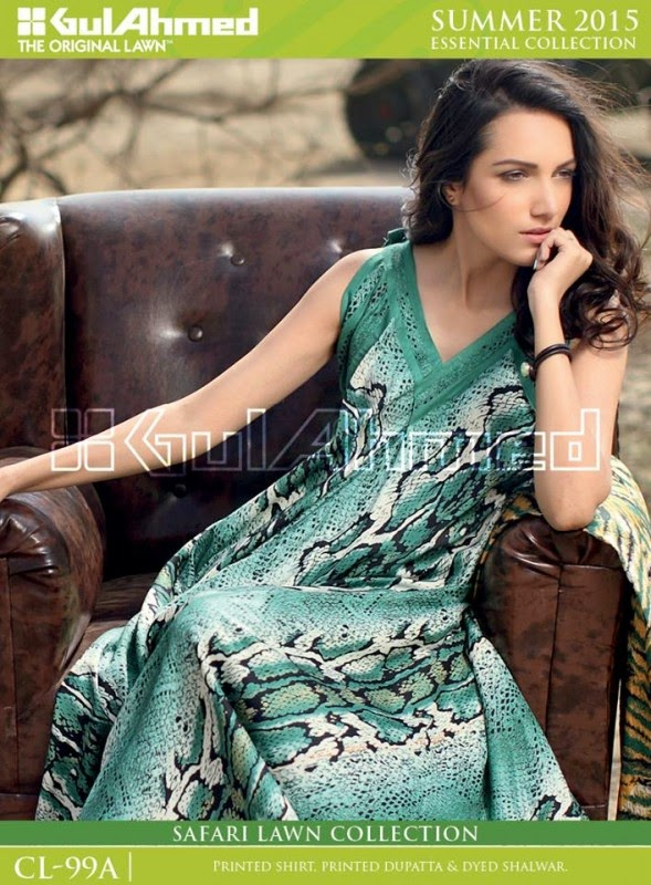 Safari Lawn Summer Collection by Gul Ahmed 2015 2