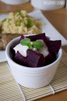 (salatka z burakami i sosem tahini
