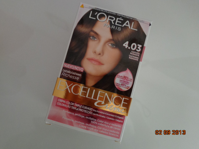 Excellence hair color in 4.03 radiant brown
