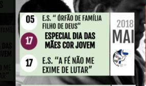|| PROGRAMAÇÃO MAIO