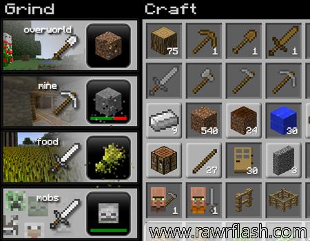 Jogos de minecraft. Jogo de clicar do minecraft. Minecraft Clicker, grindcraft