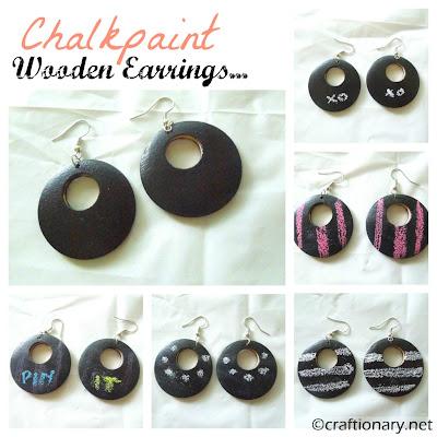 chalkboard earrings