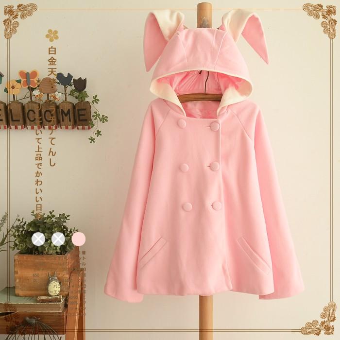áo khoác nhật bản hình tai thỏ