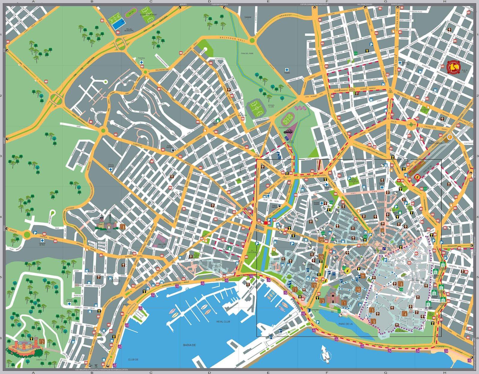 Mapas de palma espanha mapasblog for Palma pianta