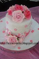Fondant Hantaran Cake-Pink