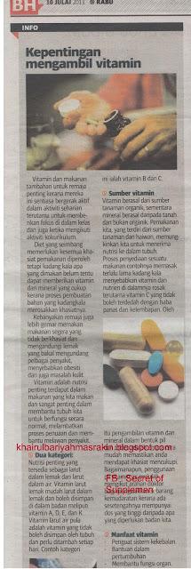 kepentingan pengambilan vitamin