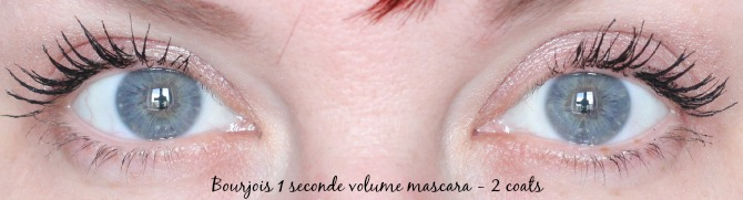 bourjois 1 seconde mascara - 2 coats