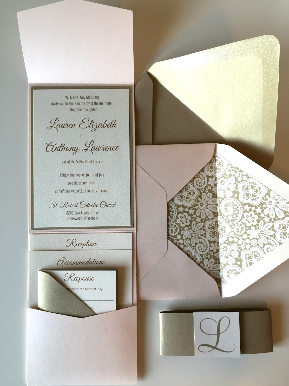 LIFESTYLE JOURNAL WEDDING INVITATION PROGRAM Lauren Gleisberg – Most Beautiful Wedding Invitations