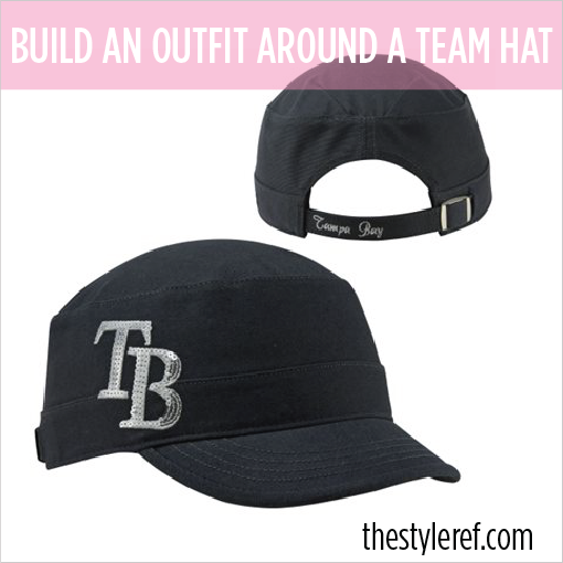How to build a gameday outfit around a sports team hat