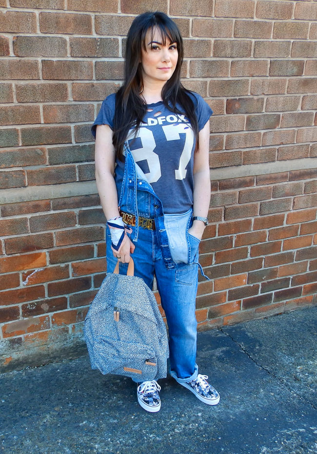 Eastpak Cheetah Padded Pak'R Backpack Wildfox ASPCA Vans Dungarees uk fashion blogger liverpool outfit post