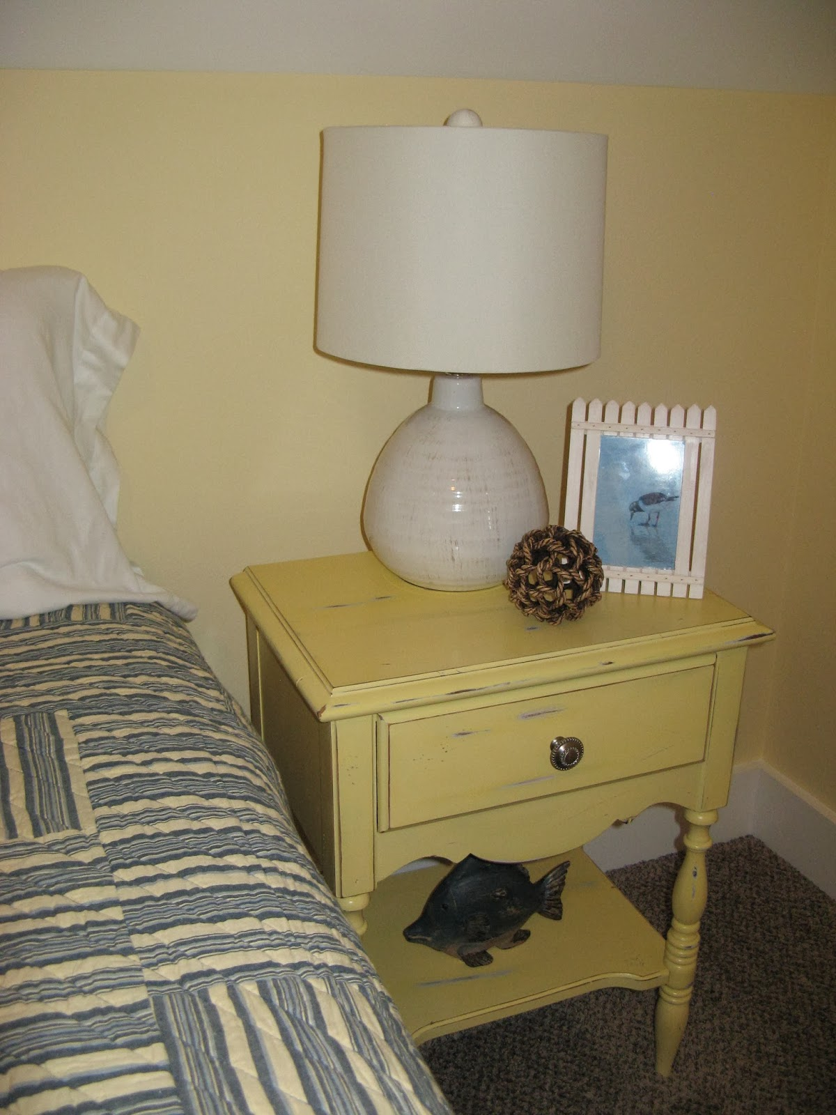 Nightstand - Sandpaper Paint Distressed in Room