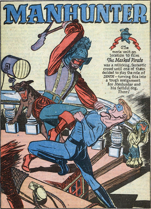 Police 55 Manhunter splash page