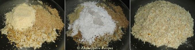 filling prepared to make karanji