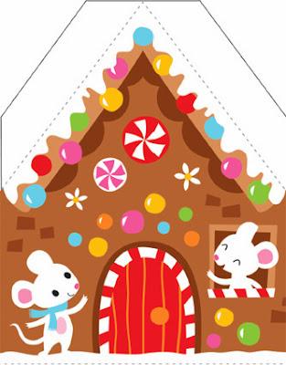 Casa recortable adorno árbol Navidad