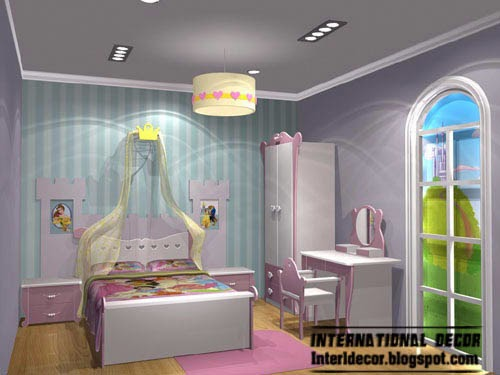 characters in Disney catroons, kids room themes decorating ideas