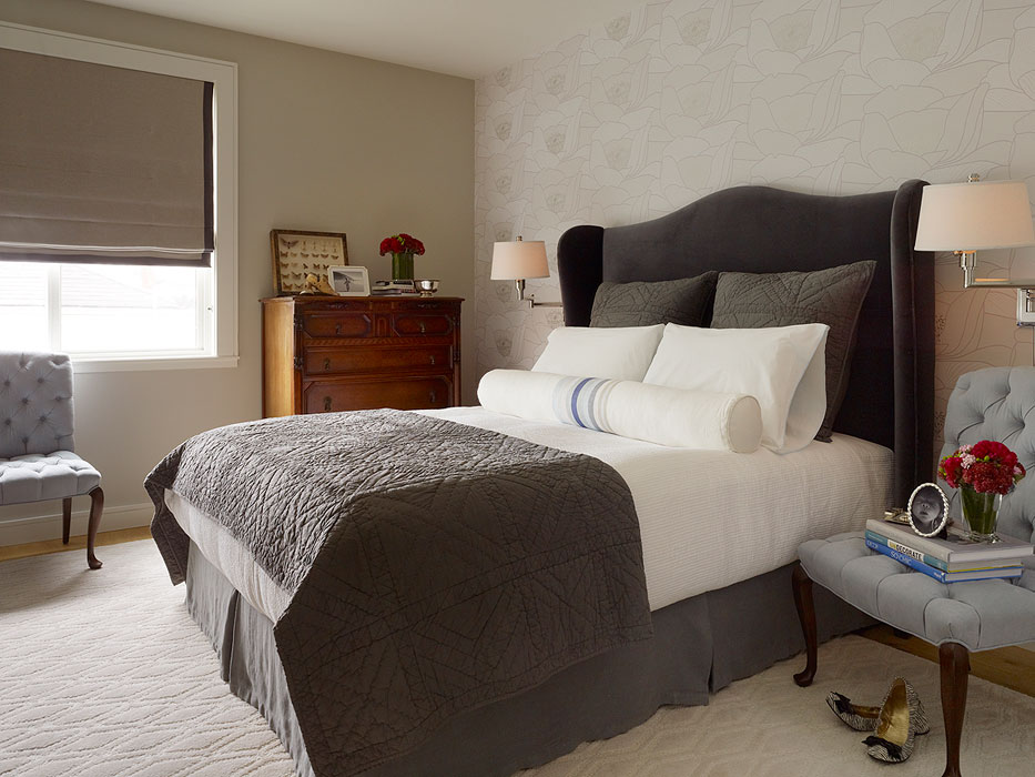 daly designs: Gray and Blue Bedroom