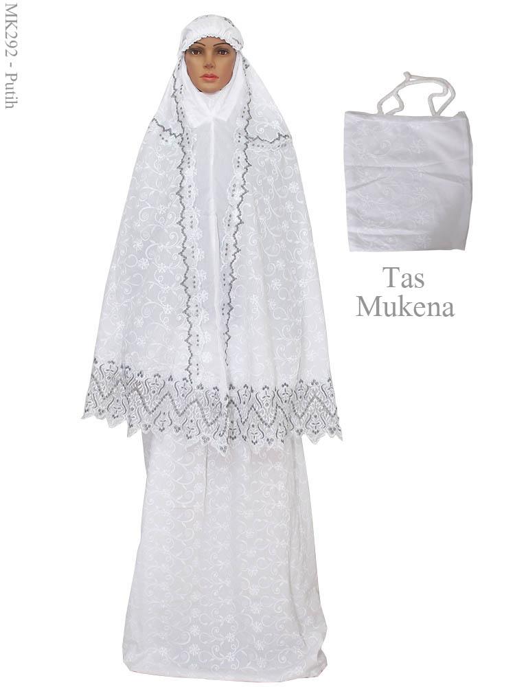 Mukena cantik muslimah mk292 busana muslim murah terbaru Baju gamis putih murah