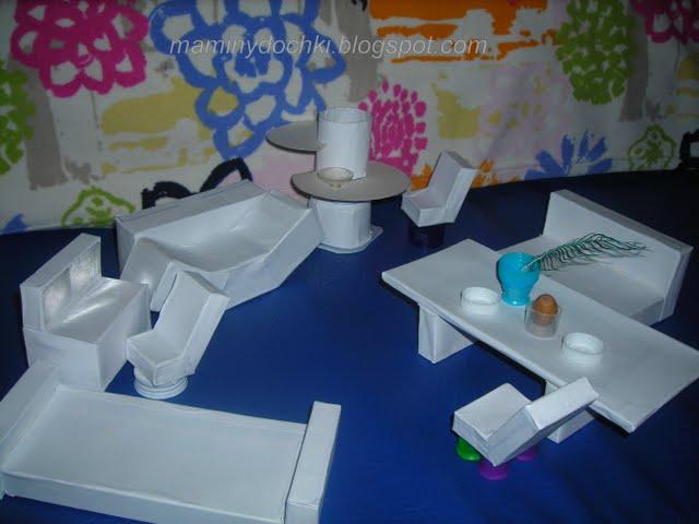 Как сделать из бумаги и картона посуду для кукол