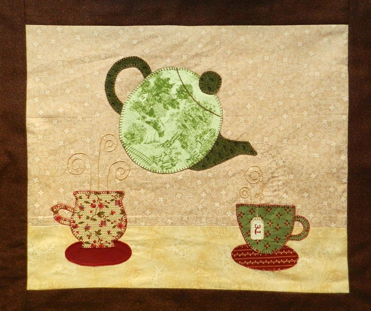 Mantel individual, hora del té, place mat, patchwork, bodegón patchwork, puzzles de tela
