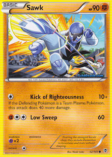 Sawk Plasma Blast Pokemon Card