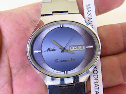 MIDO COMMANDER SOFT BLUE GRADATION DIAL - OVAL CASE - AUTOMATIC - NEW OLD STOCK(NOS)