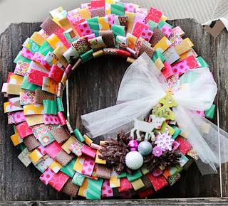 Coronas de Navidad con Papel Reciclado, II Parte