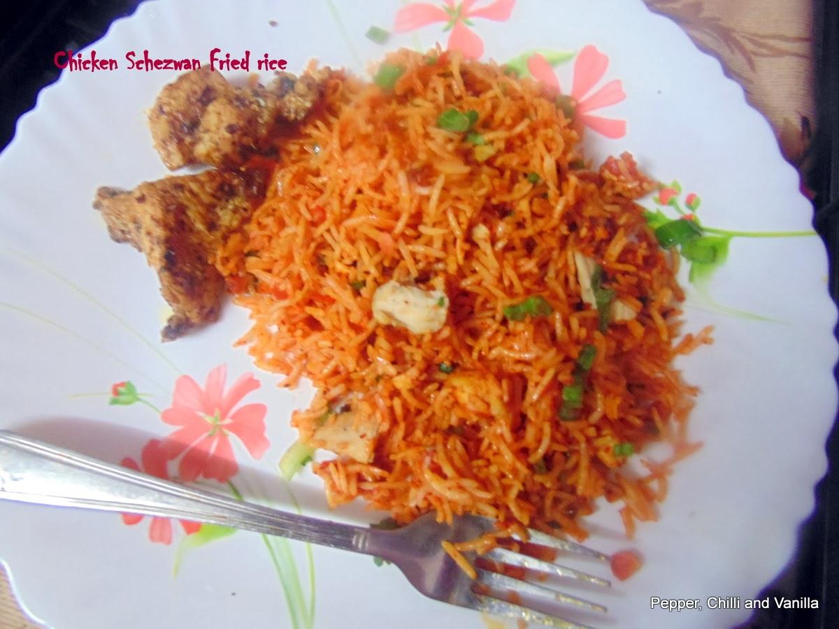Schezwan fried rice recipe how to make szechuan fried rice recipe