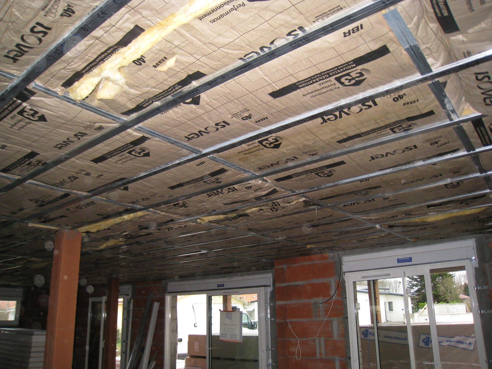 Notre projet une maison toit terrasse pose du for Plafond terrasse