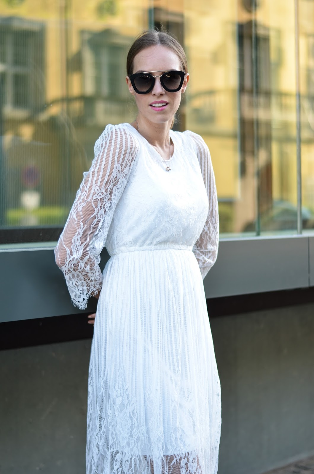 kristjaana mere chicwish white lace maxi dress outfit