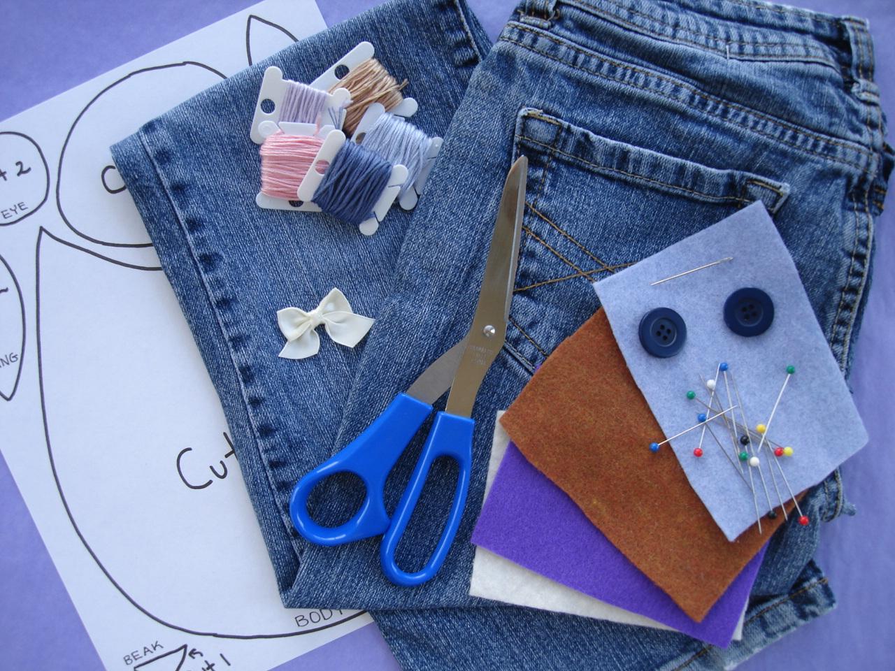 Сумочка джинсовая для телефона своими руками