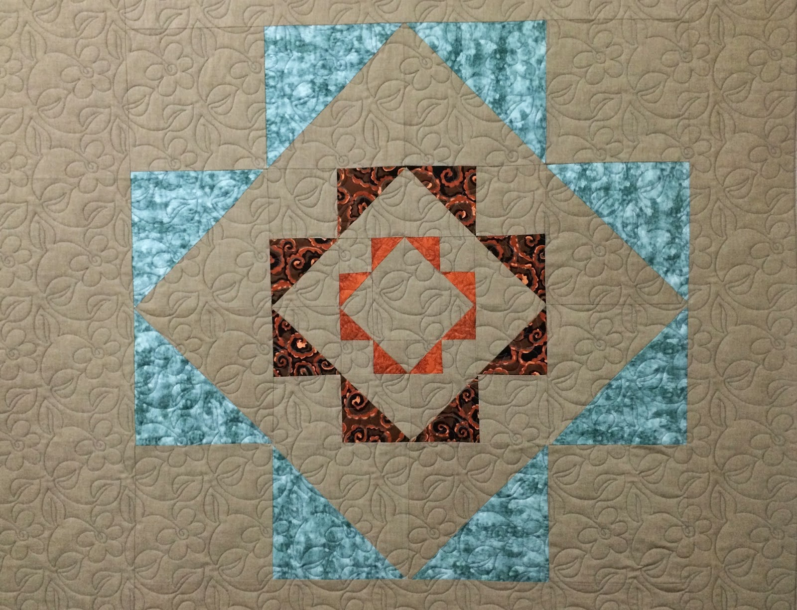 Jill Seward Single Focus Block Quilt