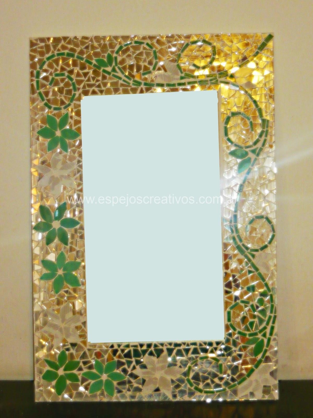 Espejarte espejos mosaiquismo verde for Dibujos para mosaiquismo
