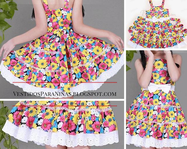Vestidos para niñas de 6 5 7 8 años