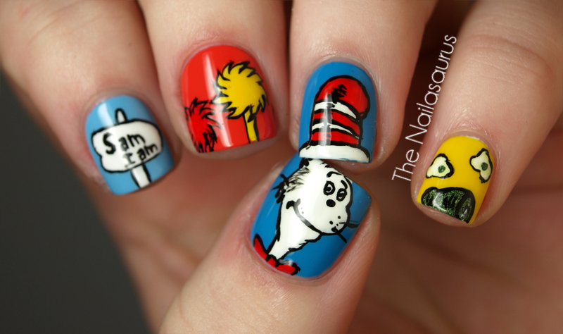 Dr Seuss Nail Art The Nailasaurus Uk Nail Art Blog