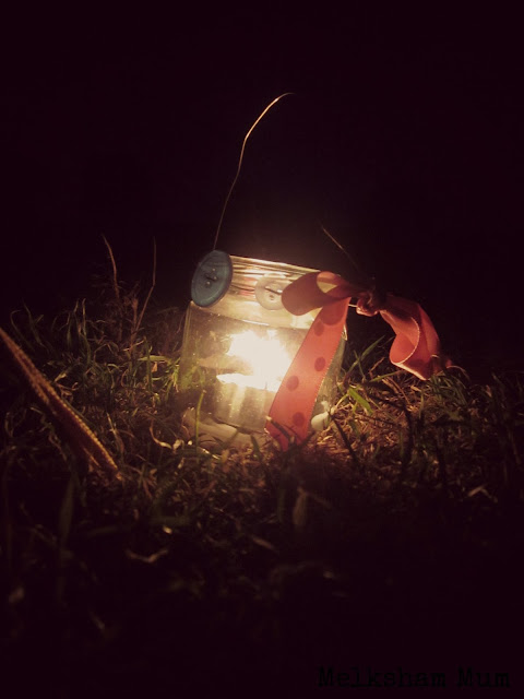 Camping by candlelight