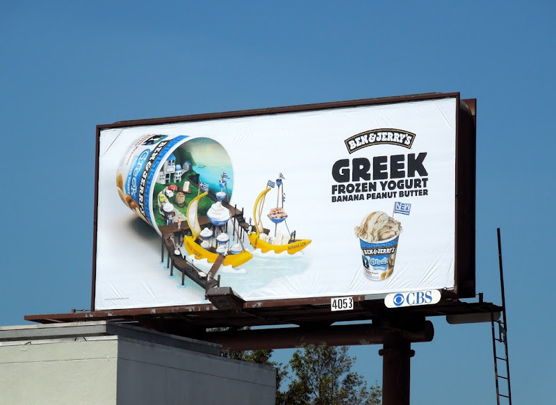 Ben Jerrys Greek Frozen Yogurt billboard