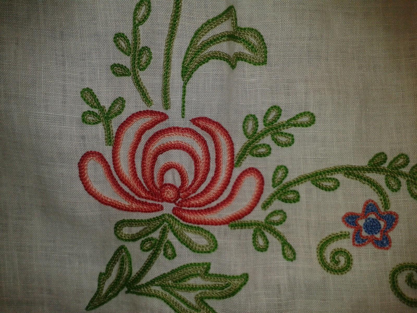 Mi pasion por los encajes y bordados - Manteles bordados ...