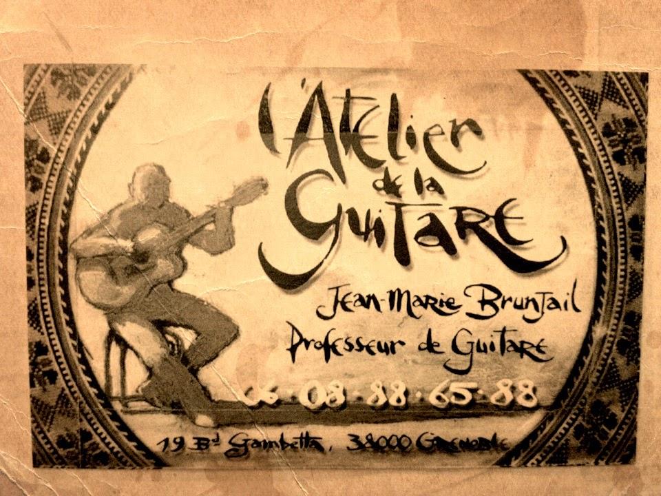 L'Atelier de la Guitare, cours de guitare Grenoble, professeur de guitare