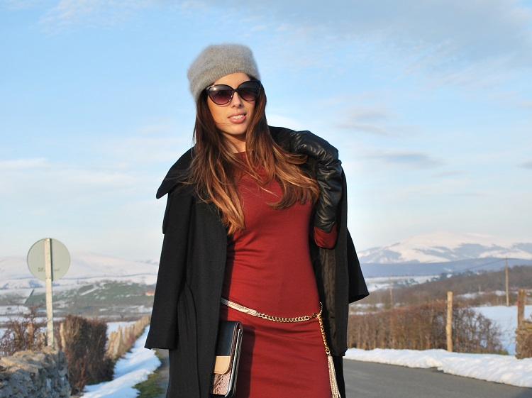 Burgundy dress-Vestido burgundy
