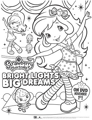 Strawberry Shortcake Coloring Page Wizards Of Waverly Place