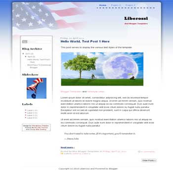 Liberossi Blogger Template. blogger template from wordpress theme