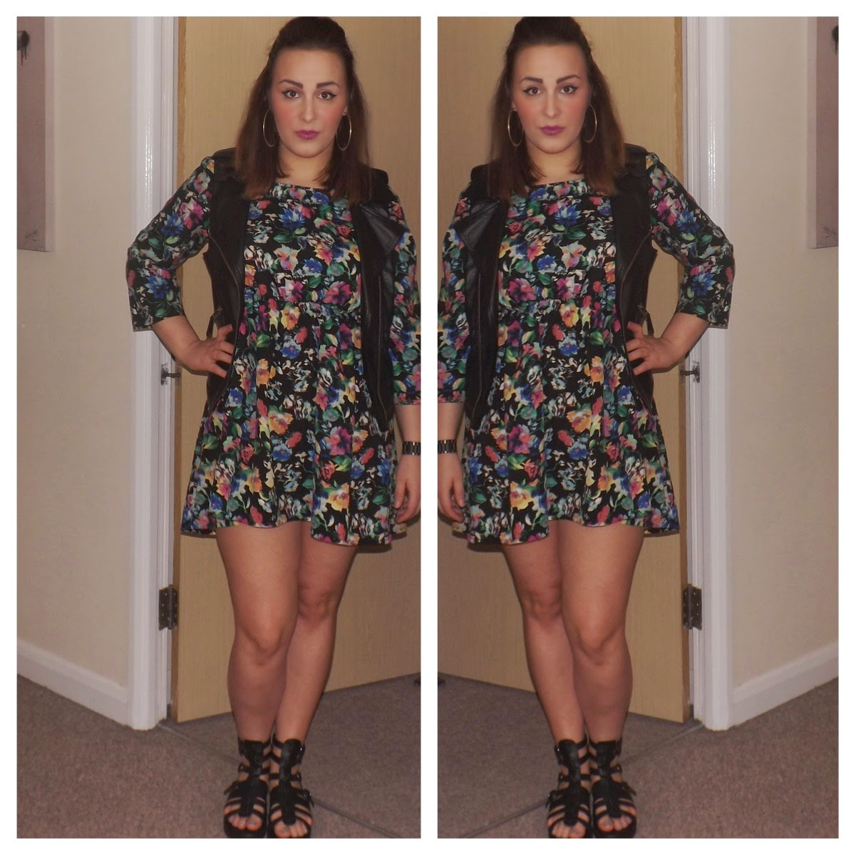 Boohoo flower dress