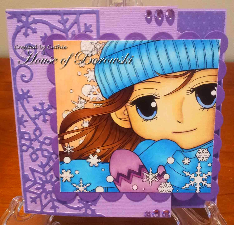 Diecut Divas, ArtbyMiran Winter Sophia, Wild Rose Studio snowflake border, spellbinders.