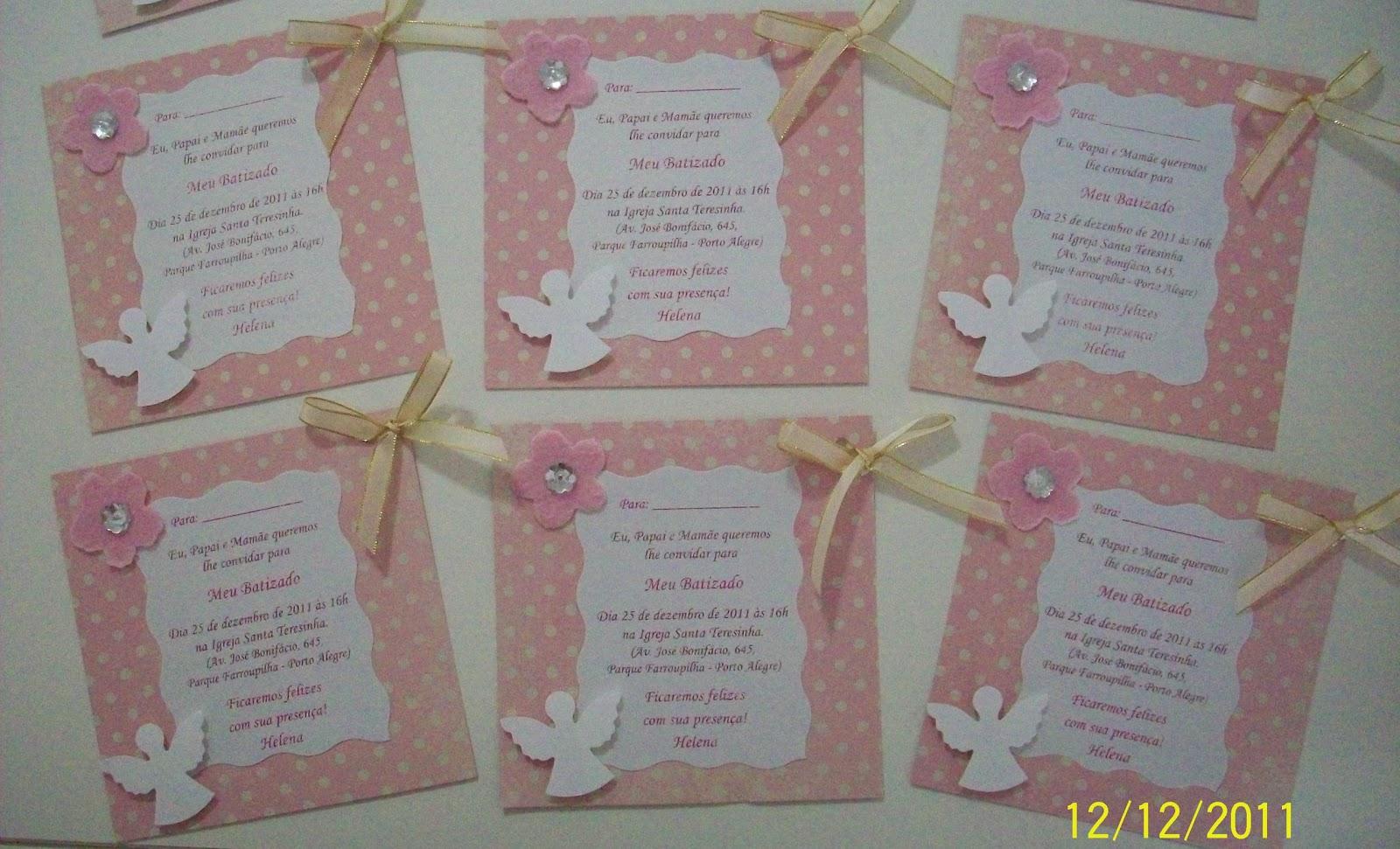 convites para batizado   modelo anjinho   papeleira maluca