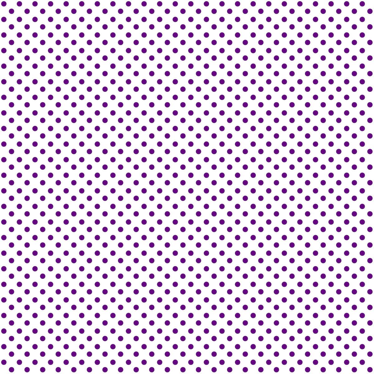 Digital Purple White Polka Dot